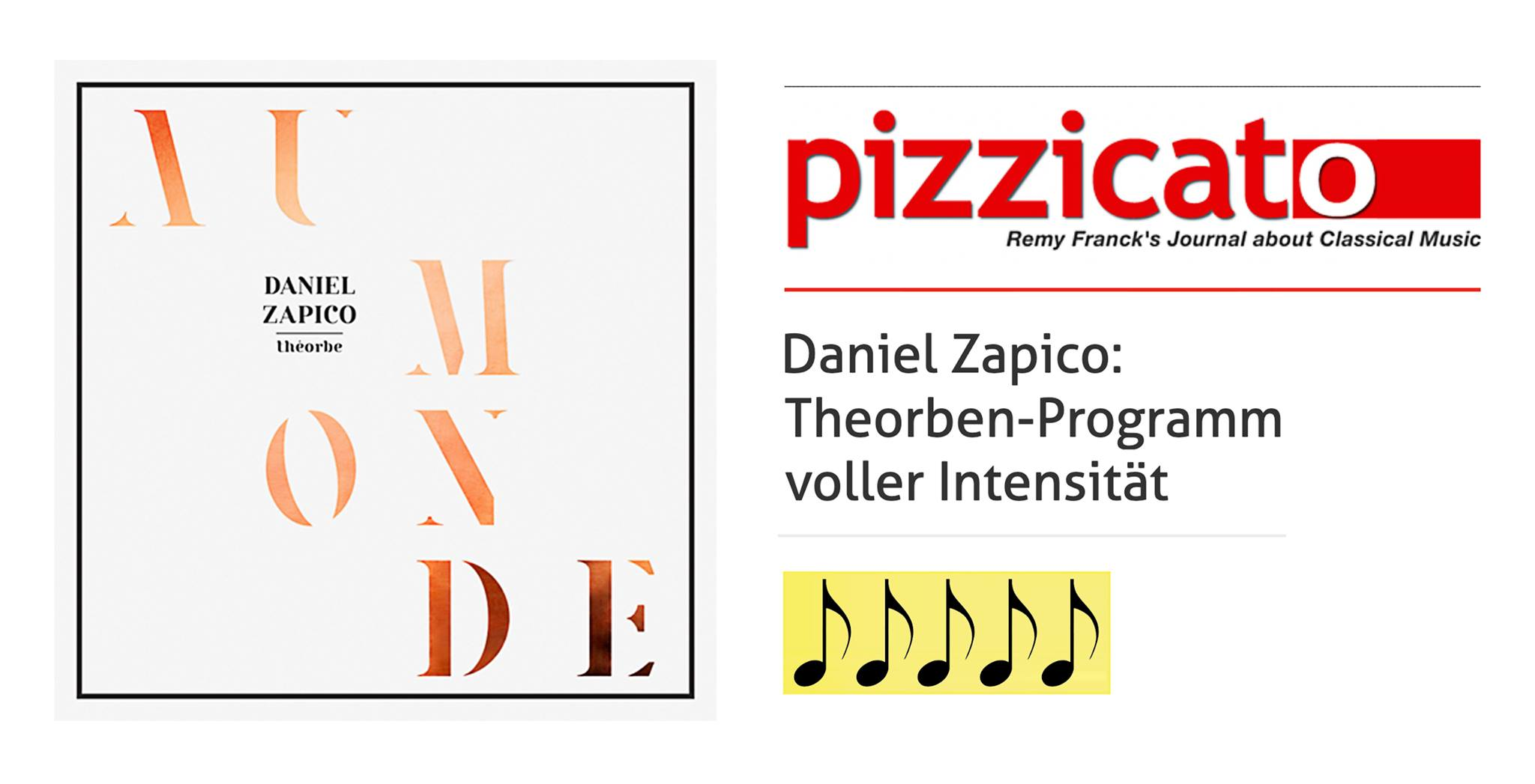 5 notes to AU MONDE in Pizzicato